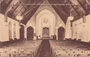 Rhode Island Providence St Pauls Eveangelical Lutheran Church