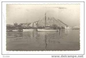 RP Sailboats in harbor, ALICANTE, Spain, PU 1957