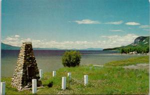 Fort St. James BC British Columbia Cairn Stuart Lake Unused Vintage Postcard D79