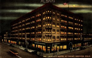 Colorado Denver Albany Hotel By Night