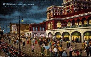 New Jersey Atlantic City Boardwalk By Night At Chalfonte-Haddon Hall Hotels
