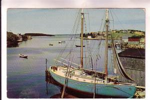 Fishing Schooner, Hackets Cove, Nova Scotia, Photo Canadian Pacific Railway, ...