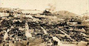 c1910 Rare Victor Colorado CO Bird's Eye View Mining Factories Antique Postcard