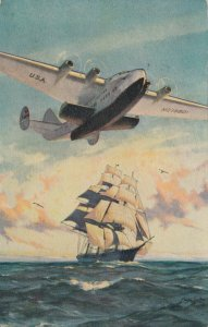 Pan American Flying Clipper Ships Poster Art, Airplane , Guam, 1940