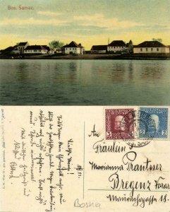bosnia and herzegovina, BOSANSKI ŠAMAC Шамац, Panorama Sava River 1913 Postcard