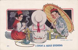 Kids with opium pipe playing cards , 00-10s
