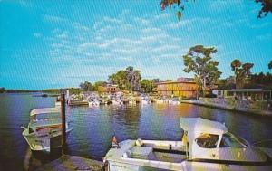 Florida Miami Waterfront View Of Riverside Villas And Motel On The Beautiful ...
