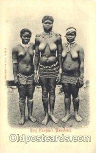King Hangan's Daughters African Nude Unused light tab marks from being in album