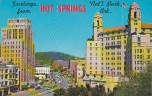 Arkansas Hot Springs National Park Looking Northwest On Central Avenue 1964