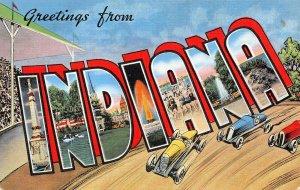 LP01 Large Letter  Indiana Vintage Postcard views
