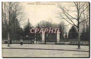 Old Postcard Soissons Entree du Jardin d & # 39Horticulture