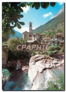 Postcard Modern Lavertezzo Valle Verzasca