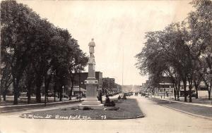 Missouri Mo Real Photo RPPC Postcard c1930-40s BROOKFIELD North Main St Stores