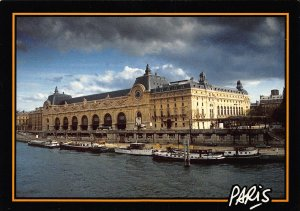 France Paris Musee d'Orsay Museum River Boats Postcard