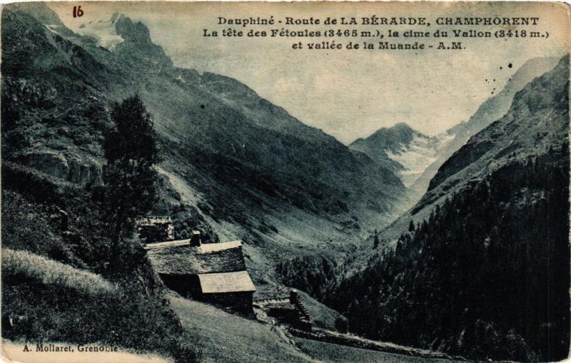 CPA Dauphiné - Route dela BERARDE Champhorent - La tete des Fetoules (433249)