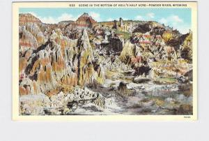 ANTIQUE POSTCARD NATIONAL STATE PARK HELLS HALF ACRE POWDER RIVER WYOMING