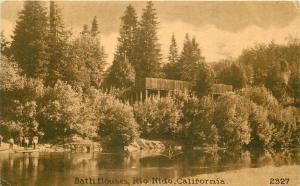 Bath Houses Rio Nido California 1912 Sonoma Postcard Mitchell 5692