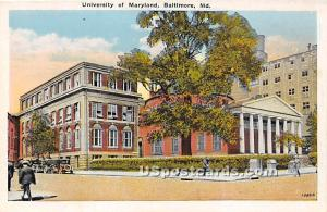 University of Maryland Baltimore MD Unused