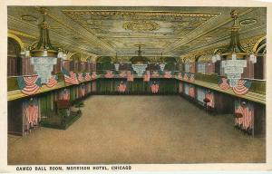 CHICAGO IL MORRISON HOTEL CAMEO BALL ROOM POSTCARD