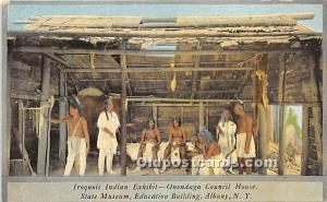 Iroquois Indian Exhibit, Onondaga Council House State Museum, Albany, NY, USA...