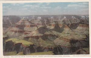 Arizona Grand Canyon The Canyon From Yavapi Point Fred Harvey Detroit Publishing