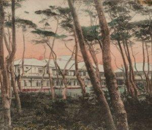 Kaihin-In Hotel Kamakura Japan Tinted Colored Postcard