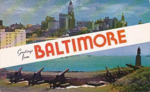 Maryland Baltimore Greetings From Baltimore 1962