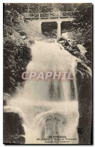 Old Postcard The Pyrenees Gripp Route du Tourmalet Tourmalet Cascade