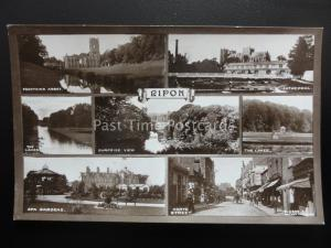 Yorkshire RIPON 7 Image Multiview - Old RP Postcard by Rotary