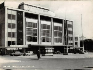 Vintage Real Photo Postcard, c1965 Fairfield Halls Croydon, Surrey, London 55Z