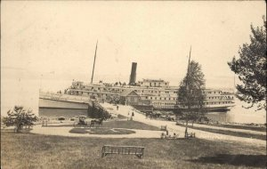 Northport? ME Steamship City of Rockland Ship c1910 Real Photo Postcard