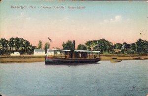 Newburyport MA, Grape Island, Steamer Carlotta, 1910, Ipswich, Plum Island