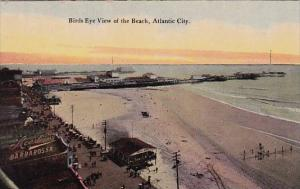 New Jersey Atlantic City Birds Eye View Of The Beach