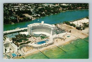 Miami FL- Florida, The Fontainebleau, Hotel, Chrome Postcard