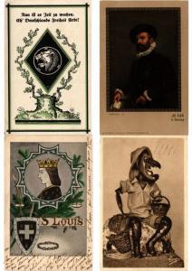 FANTASY FANTAISIE THEME THEMA SUBJECTS 1200 Vintage POSTCARDS Pre-1940
