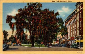 Connecticut Stamford West Park 1950 Curteich