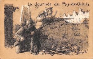Militaria Political Patriotic 1916 WWI La Journee du Pas-de-Calais