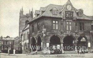 Town Hall & St Johns Church Peterborough UK, England, Great Britain Unused