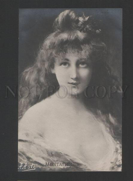 120459 Charming BELLE by Angelo ASTI vintage PHOTO PC
