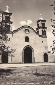 San Miguel Mission Socorro New Mexico Real Photo