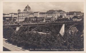 RP, Kirchenfeldbrucke, Bundespalast u. Palace-Hotel Bellevue, BERN, Switzerla...