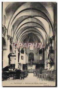 Old Postcard Valencia inside church saint jean cleche E. S.
