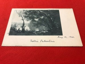 1902 postcard THE LAKE. COROT. Raphael Tuck & Sons LOUVRE Postcard No. 1638