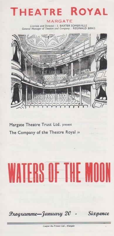 Waters Of The Moon NC Hunter Rare Theatre Royal Margate Kent Programme