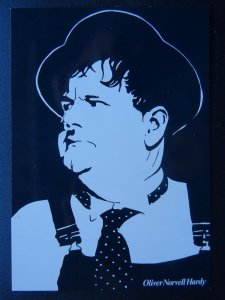 OLIVER NORVELL HARDY c1980s Modern B & W Postcard by Beechwood 553568