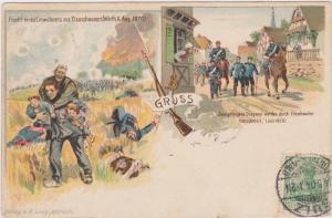 SULZ, Germany, PU-1904; Germany Gruss Franco Prussia Levy postkarte