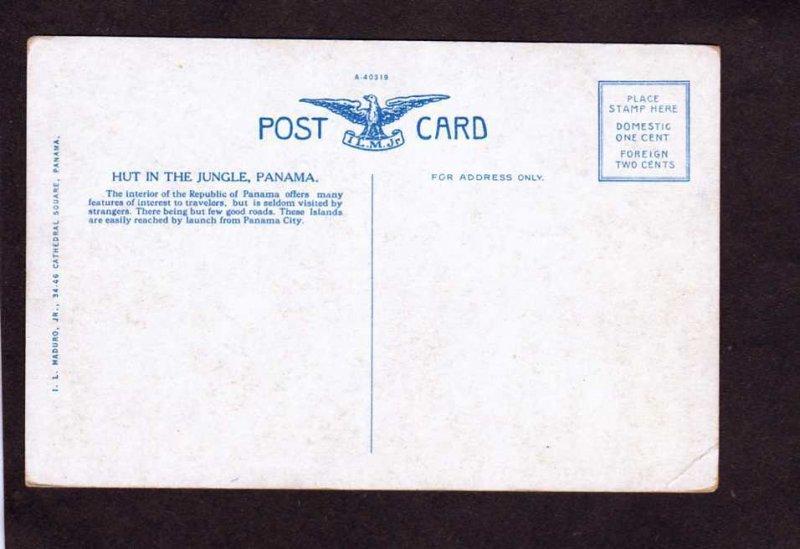 Republic of PANAMA Hut in the Jungle Postcard Tarjeta Postal Carte Postale