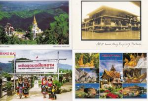 Chiang Mai Doi Mae Salong Klong Bang Loung 4x Thailand Postcard s