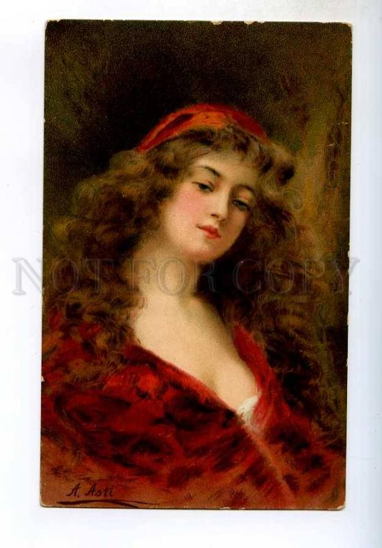 245029 Lady in Red LONG HAIR by Angelo ASTI vintage H&S color