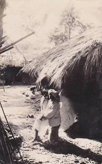 Belgian Congo Village Indigene Real Photo